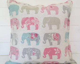 Elephants Cushion Cover, Elephants Pillow Case