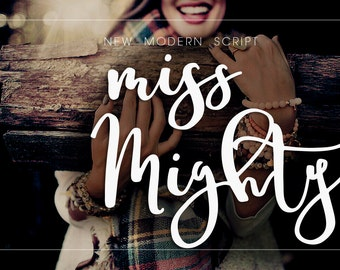 Miss Mighty Calligraphy Font Download Digital