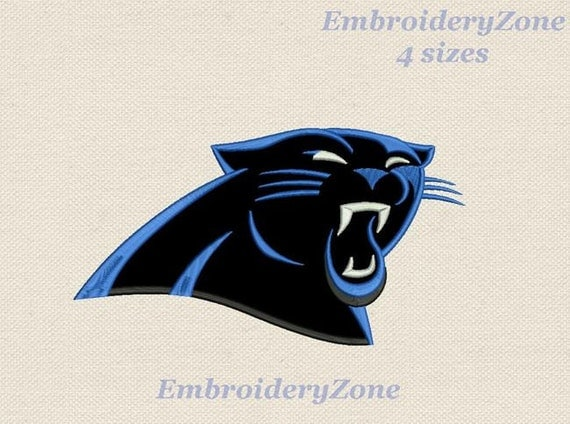 logo carolina panthers embroidery design by embroideryzone