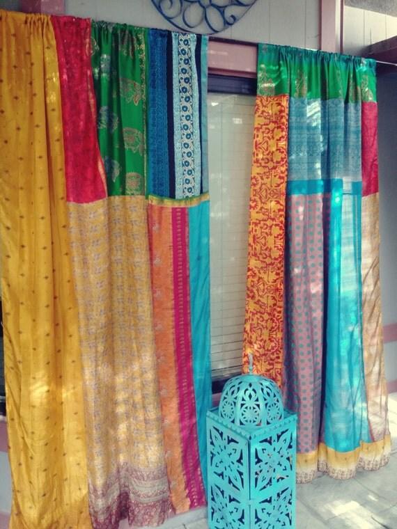 Third Eye Gypsy Bohemian Curtains By Hippiewild India Sari