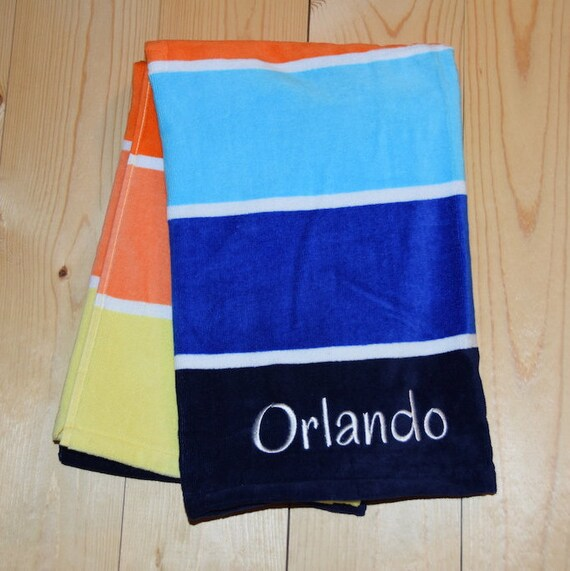Personalized Beach Towel For Toddler: Kids Personalized Beach Towel Custom Beach Towels