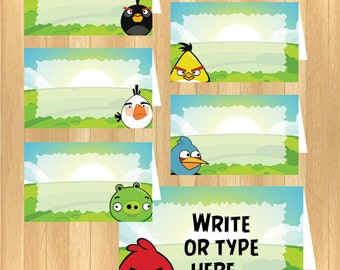 INSTANT DOWNLOAD - EDITABLE Angry Birds Food Tent