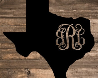 Monogram State Decal   State Decal