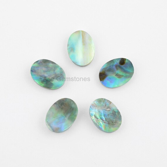 abalone shell gemstone oval 12x16mm calibrated