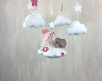 Baby mobile - bunny mobile - cloud babies collection - butterfly mobile - cloud mobile - nursery decor