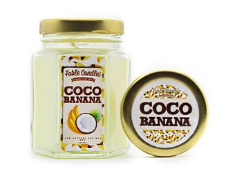 Coco Banana Scented Soy Candle | Handmade Scented Candle -- 4oz