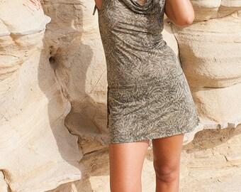 Bohemian dress, boho style burnout lycra casual dress, short dress - Zanash (0002)