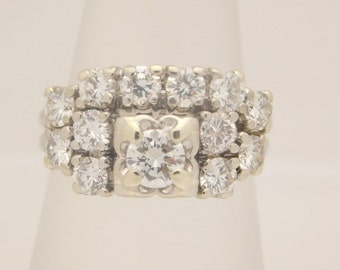 2.00 Carat T.W. Ladies Round Cut Diamond Wedding Set 14K
