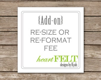 Re-size or re-format FEE {Add-on}