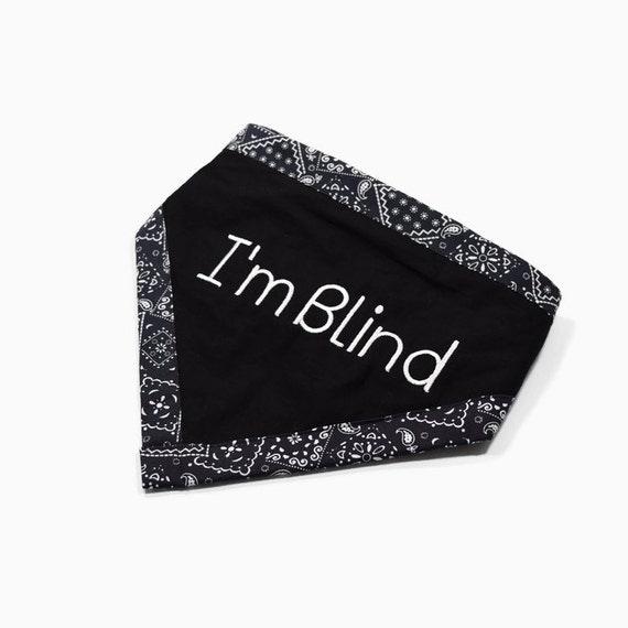 Bandana For Blind Dog Special Needs Pet Scarf Dog Bandanna