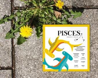 PISCES Zodiac Print / Poster