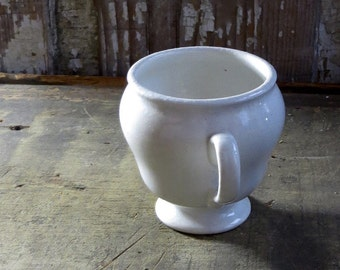 Antique Ironstone Cup, Creamy White Iron Stone Mug, Coffee or Tea, Dinnerware, Country Cottage, Farmhouse Decor