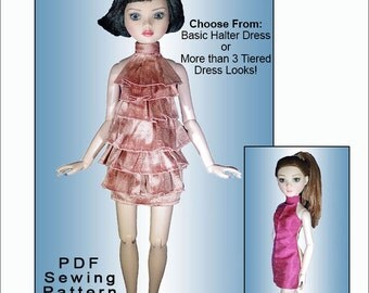 BURST into TIERS Dress for 16 inch Ellowyne Wilde Dolls also fits MiniFee - Instant PDF Download - Christmas Tree Dress