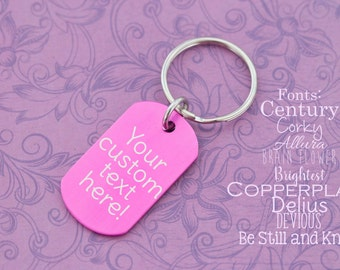 Custom Engraved Keychain - Engraved Keychain - Laser Engraved - Custom Engraving - Dogtag Keychain - Dogtags - Gifts for Him - Gifts for Her