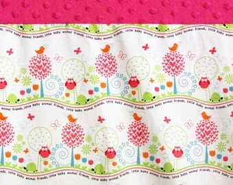 Minky Changing Pad Cover, Pink Owl, Contoured Changing Pad, Pink Minky Girl Baby Shower Gift Hot Pink Owl Changing Pad Cover