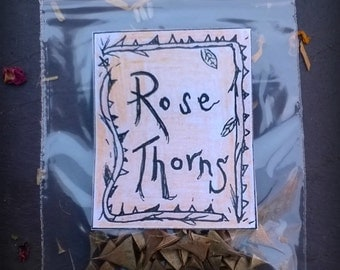 13 Rose thorns, pins for candle inscribing, pagan, Wiccan, witch, fairy tales, crafts