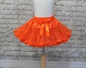 Baby Girl Ruffles Tutu Pettiskirt in Orange. Harvest tutu. Ready to Ship.