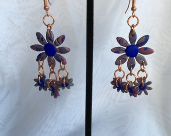 Flower Child Beeswax Clay Dangle Earrings C167-901