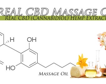 CBD Massage Oil 4 Ounces With Other Bontanicals