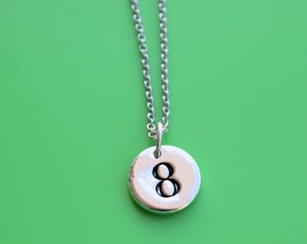NUMBER stainless steel NECKLACE,initial or number,initial,monogram,number,personalized,letter,a,b,c,d,e,f,g,h,i,j,k,l,m,n,o,p,q,r,s,t,u,v,w