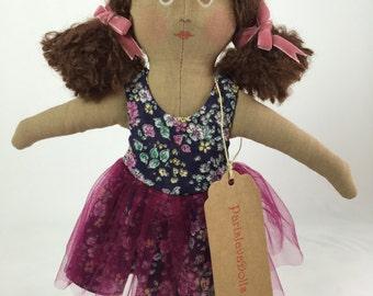 Ballerina Doll - Fabric Doll - Rag Doll - Soft Doll - Girl Doll