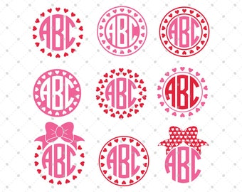 Monogram Pink Frame With Bow Clip Art Vector Frame Clip