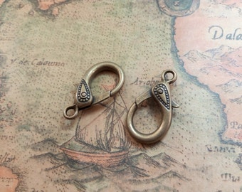 5pcs 17x31mm Huge Lobster Clasps Pendants Handmade Jewelry Accessories Findings A