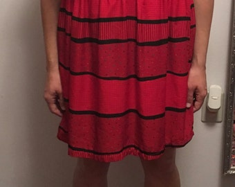 Vintage 80's red dress/tunic