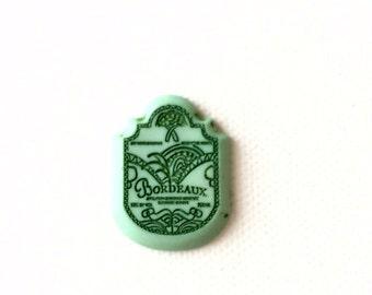 Wine Label Pin, Lapel Pin, Tie tack, Bordeaux Wine Label, Wine Lover's Gift