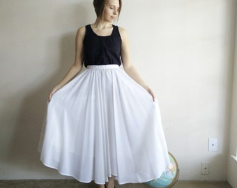 Vintage Chiffon Style Maxi Skirt