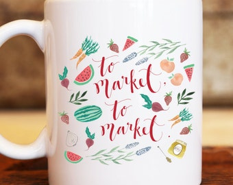 To Market, To Market Illustrated Coffee Mug