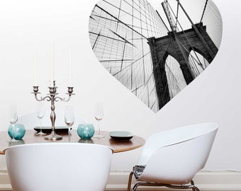 Love New York Wall Decal - Brooklyn Bridge Wall Decal by Chromantics