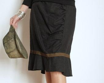 Black ruffle skirt | Etsy