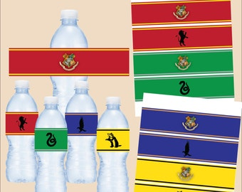 Harry Potter water bottle label - instant download