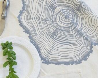 Cloth Napkins - Natural Cotton - Tree Ring - Woodland Decor - Table Setting - Cotton Napkins - Reusable - Washable Napkins - Unpaper Towels