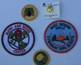 Great Collection of Vintage Girl Scout Badges From the 1990 Sybaquay Girl Scouts