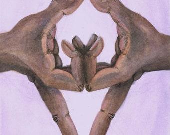SALE** Third Eye Mudra Watercolor Print