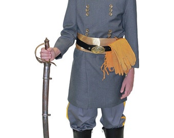 "James Ewell Brown ""J.E.B."" Stuart American Civil War Confederate Uniform, Theatrical Quality Children's Clothing, Perfect for School Events"