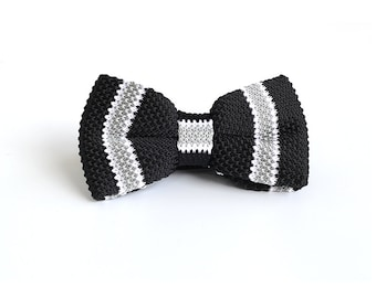 Personalized Knit Bowtie,Personalized Wedding Knit Bowtie,Mens Knit Bowtie,Mens Grooming,Bowtie for Party,Mens Gifts,Christmas Gift