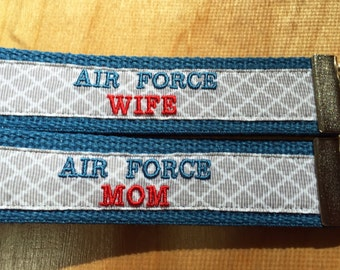 Key Fob: Air Force Mom / Air Force Wife / Air Force Girlfriend / Air Force Daughter / Air Force Sister  Wristlet; Keychain