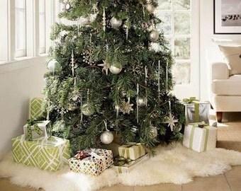 WOW! Genuine Natural Lambskin / Sheepskin Rug, Pelt, soft long fur XL LARGE  perfect for christmas tree design