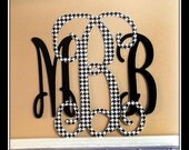 Houndstooth Wall Monogram| Black and White Monogram | Choose your own colors | Nursery Decor | Wedding Gift | Shower Gift | Bridal Shower