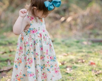 Toddler Floral Dress / Girls Floral Sundress / Girls Dress / Floral Dress