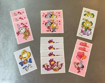 Snorks Valentine's Day Cards Snorkel 80s Cartoon Underwater Animals Hallmark Love Card