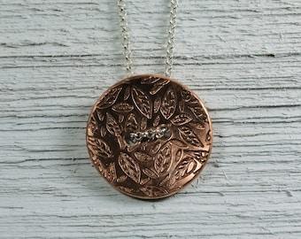 Copper Button Necklace