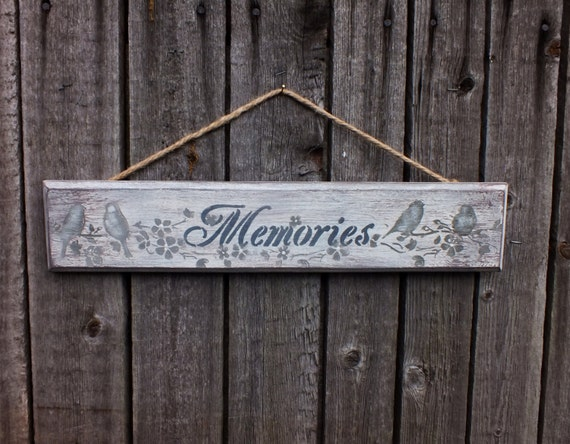 Wood Memories Sign Wooden Signs Rustic Wooden Sign Farmhouse