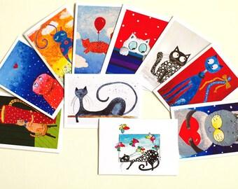 Greeting cards Blank cards Bulk cards Artbyasta Bulk greeting cards Birthday card SET of 10 CARDS Greeting card set Thank you card