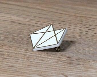 Gold 'Foxy' Geometric Brooch