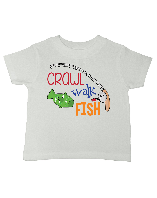Kids fishing shirt boys fishing tshirt girls fishing for Baby fishing shirts