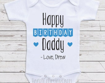 Happy birthday daddy etsy personalized birthday baby clothes happy birthday daddy custom baby one piece gifts for negle Gallery